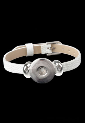 www.sayila.com - DoubleBeads EasyButton imitation leather bracelet 16-20cm