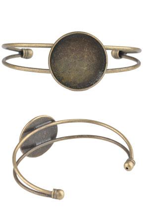 www.sayila.com - Metal cuff bracelet with setting for 25mm flat back