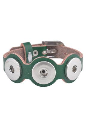 www.sayila.es - DoubleBeads EasyButton pulsera de cuero 19-23cm