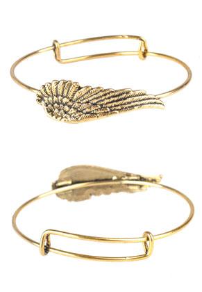 www.sayila.com - Charm bangle/wire bracelet with wing 22cm