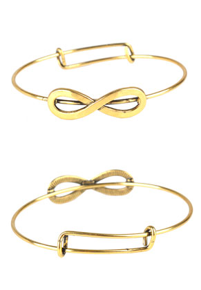 www.sayila.be - Charm bangle armband met infinity teken 20,5cm