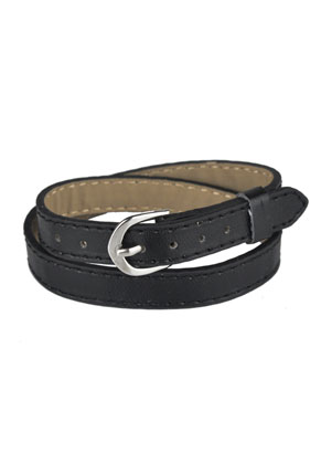 www.sayila.nl - Imitatieleren wikkelarmband 15-17cm (geschikt voor schuifkralen)