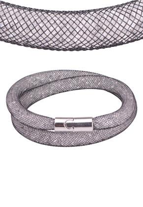 www.sayila.com - Nylon mesh wrap bracelet with strass inside 19cm