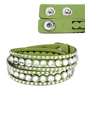 www.sayila.com - Imitation suede wrap bracelet with strass 17-18cm