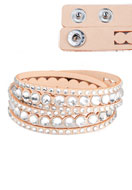 www.sayila.com - Imitation suede wrap bracelet with strass 17-18cm - J04092