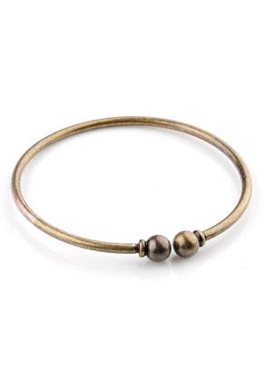 www.sayila-perlen.de - Metall Armband mit abnehmbaren Drehverschluss 20cm