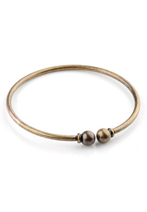 www.sayila.nl - Metalen armband met afneembare bolsluiting 20cm