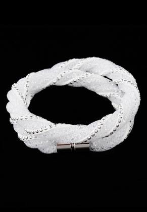 www.sayila.com - Nylon mesh wrap bracelet with strass inside 18cm