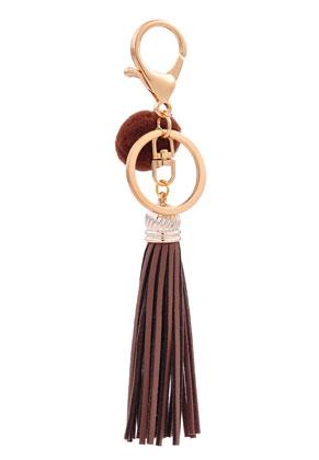 www.sayila-perlen.de - Schlüsselanhänger mit Quaste und Pompon
