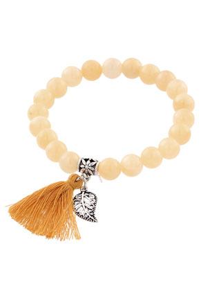 www.sayila.com - Natural stone bracelet Afghanistan Jade with tassel 17cm
