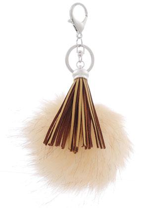 www.sayila.com - Key fob with tassel and fluff ball