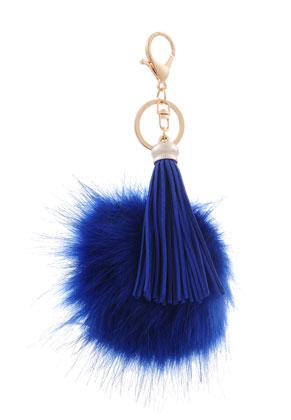 www.sayila.fr - Porte-clés avec pompon et boule de peluche