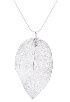 www.sayila.be - Halsketting met hanger blaadje 60cm