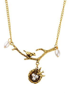 www.sayila.es - Collar con ave en la rama y nido de pájaro 58cm