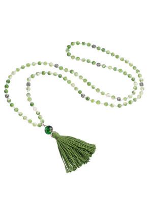 www.sayila.es - Collar Mala de piedras natural con borla 94cm