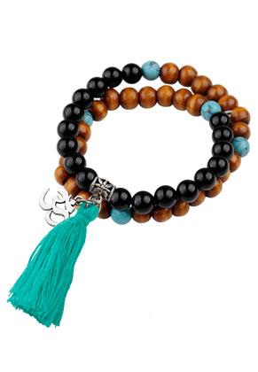 www.sayila.com - Bracelet with natural stone and tassel 17cm