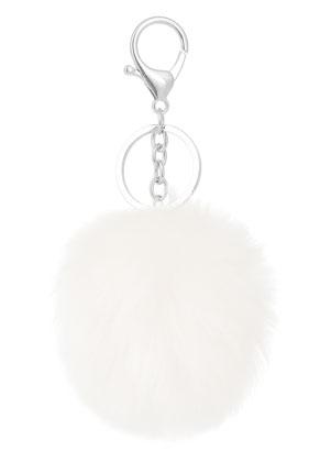 www.sayila.com - Key fob with fluff ball