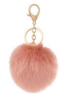 www.sayila.com - Key fob with fluff ball - J04263