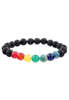 www.sayila.es - Pulsera de piedras naturales Rainbow Chakra 17cm