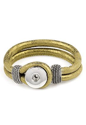www.sayila.nl - DoubleBeads EasyButton imitatieleren armband 18cm