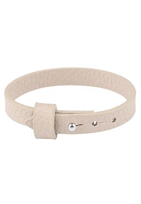 www.sayila.nl - Imitatieleren armband 17-19cm (geschikt voor schuifkralen)