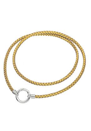 www.sayila-perlen.de - EasyClip Lederen Halskette 60cm
