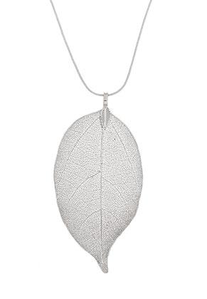 www.sayila.nl - Halsketting met hanger blaadje 60cm
