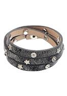 www.sayila.nl - Wikkelarmband met strass en sterren 17-19cm - J04461
