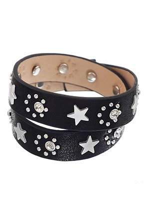www.sayila.com - Wrap bracelet with strass and stars 17-19cm