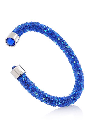 www.sayila.fr - Bracelet manchette avec strass 17cm