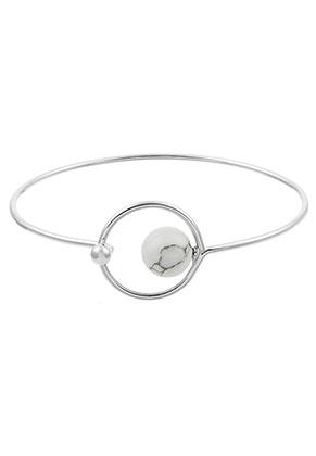 www.sayila.nl - Bangle armband met natuursteen Imitatie Turquoise 17cm
