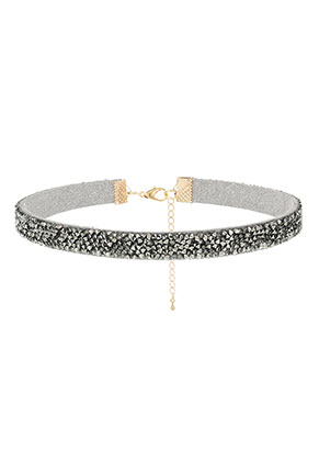 www.sayila.be - Choker met strass 30-37cm, 1cm breed