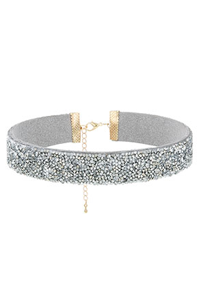 www.sayila.be - Choker met strass 29-36cm, 2cm breed