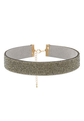 www.sayila.com - Choker with strass 29-36cm, 2cm wide