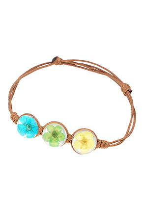 www.sayila.com - Bracelet with resin dried flowers beads 14-21cm
