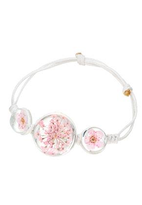 www.sayila.nl - Armband met giethars gedroogde bloemen kralen 15-20cm