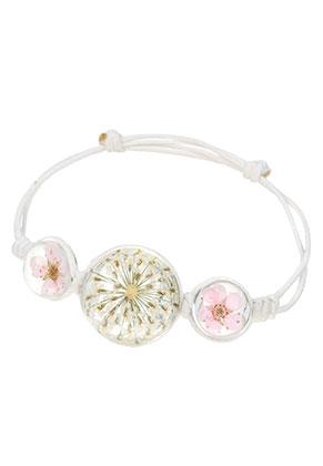 www.sayila.com - Bracelet with resin dried flowers beads 15-20cm