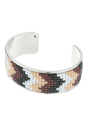 www.sayila.be - Brass cuff armband met mozaïek 20cm, 2,5cm breed