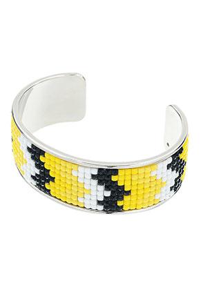 www.sayila.nl - Brass cuff armband met mozaïek 20cm, 2,5cm breed