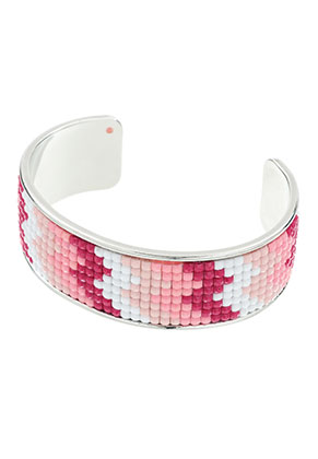 www.sayila.com - Brass cuff bracelet with mosaic 20cm, 2,5cm wide