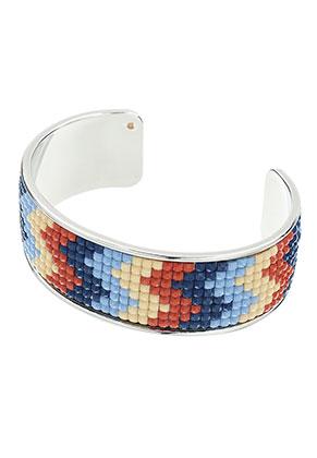 www.sayila.be - Brass cuff armband met mozaïek 20cm, 2,5cm breed