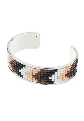 www.sayila-perlen.de - Brass Stulpe-Armband mit Mosaik 20cm, 2cm breit