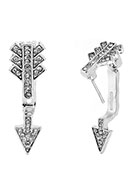 www.sayila.com - Metal ear jacket with strass arrow 28x9mm - J04664