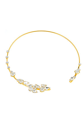 www.sayila.fr - Collier rigide en brass et strass 35,5cm