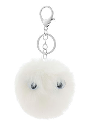 www.sayila.com - Key fob with fluff ball with googly eyes
