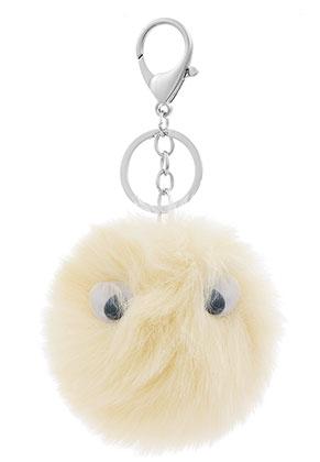 www.sayila.es - Llavero con bola de pelusa con ojos plásticos