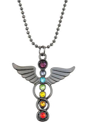 www.sayila.es - Collar con ángel Rainbow Chakra 80cm