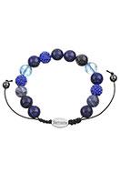 www.sayila-perlen.de - Naturstein Armband mit Strass Perlen 16,5-24cm - J04726