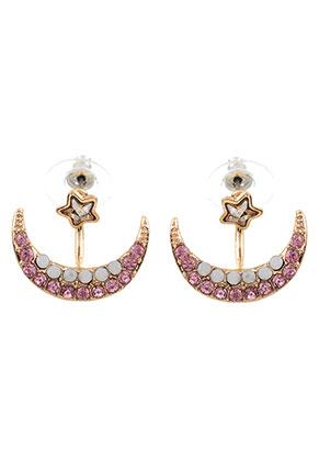 www.sayila.nl - Metalen oorstekers ear jacket met strass 23x20mm