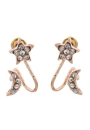 www.sayila.com - Metal ear jackets with strass 18x12mm